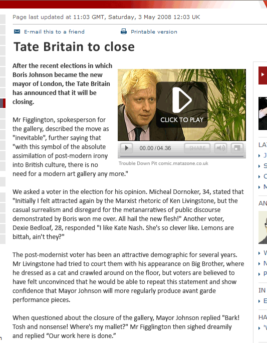 Tate Britain to close!