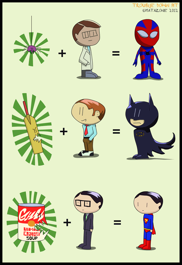 The mathematics of superheroes