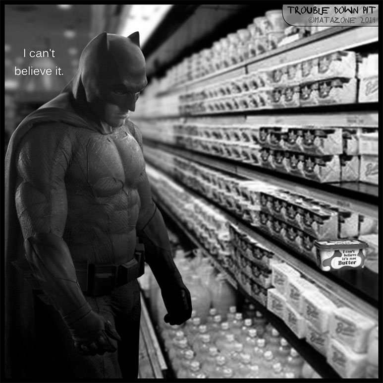 Sad Batman can't believe it