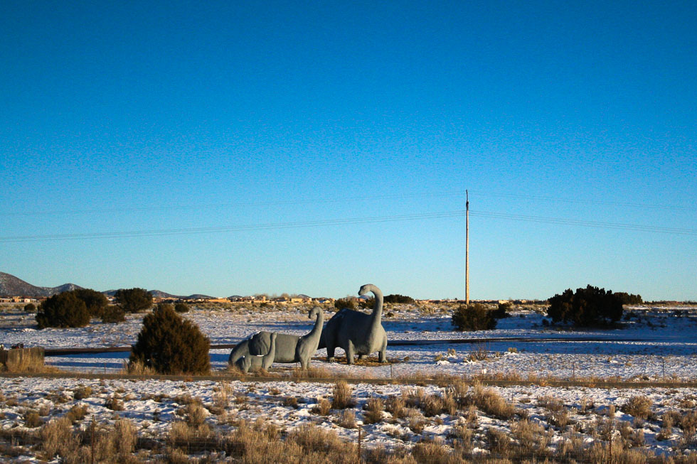 Photo: Dinosaurs by the highway in New Mexico