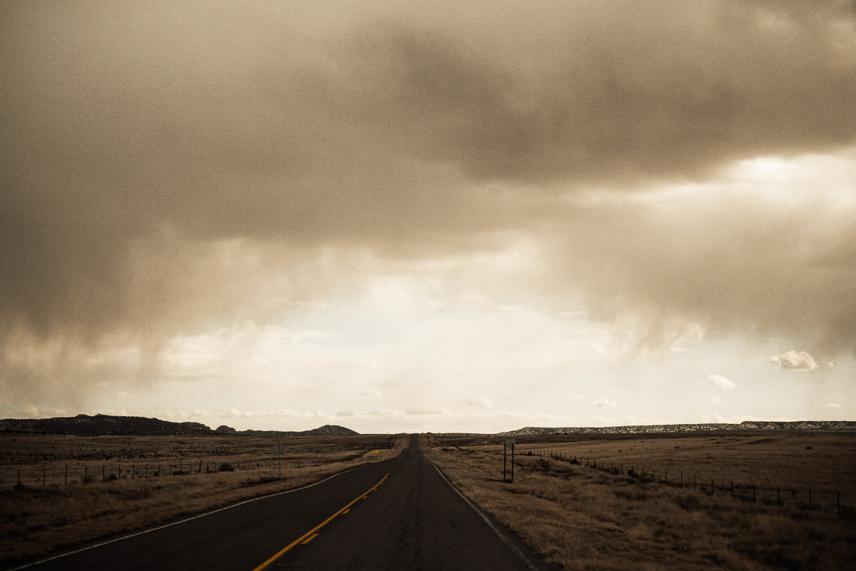 Photo: on the road in New Mexico