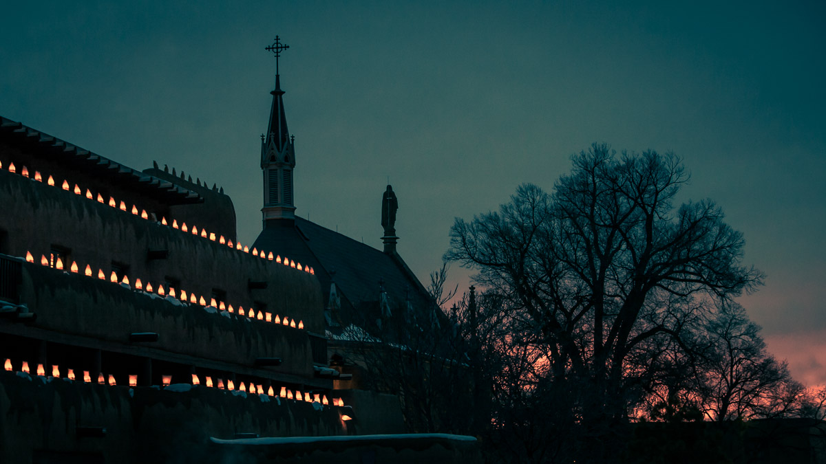 Photo: twilight in Santa Fe