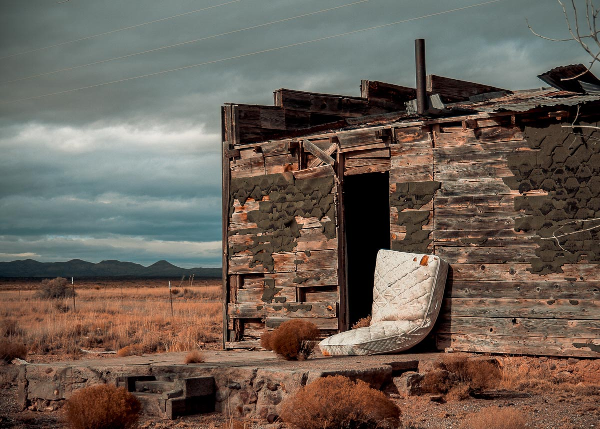 Photo: abandoned house near San Antonio, New Mexico part 2 of 3