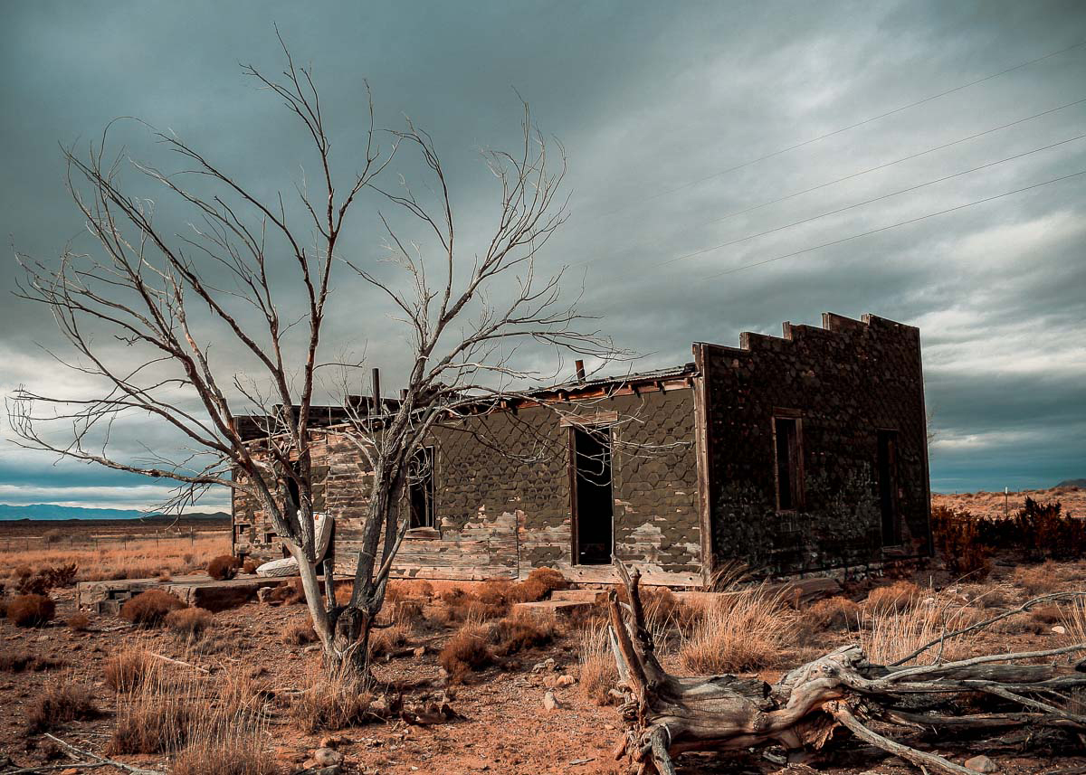 Photo: abandoned house near San Antonio, New Mexico part 1 of 3