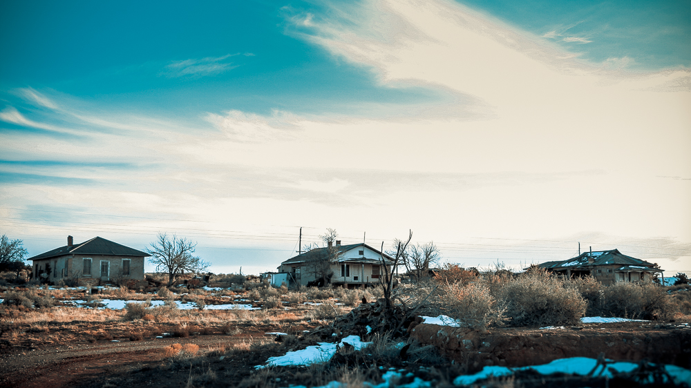 Photo: Empty houses, Ancho, New Mexico
