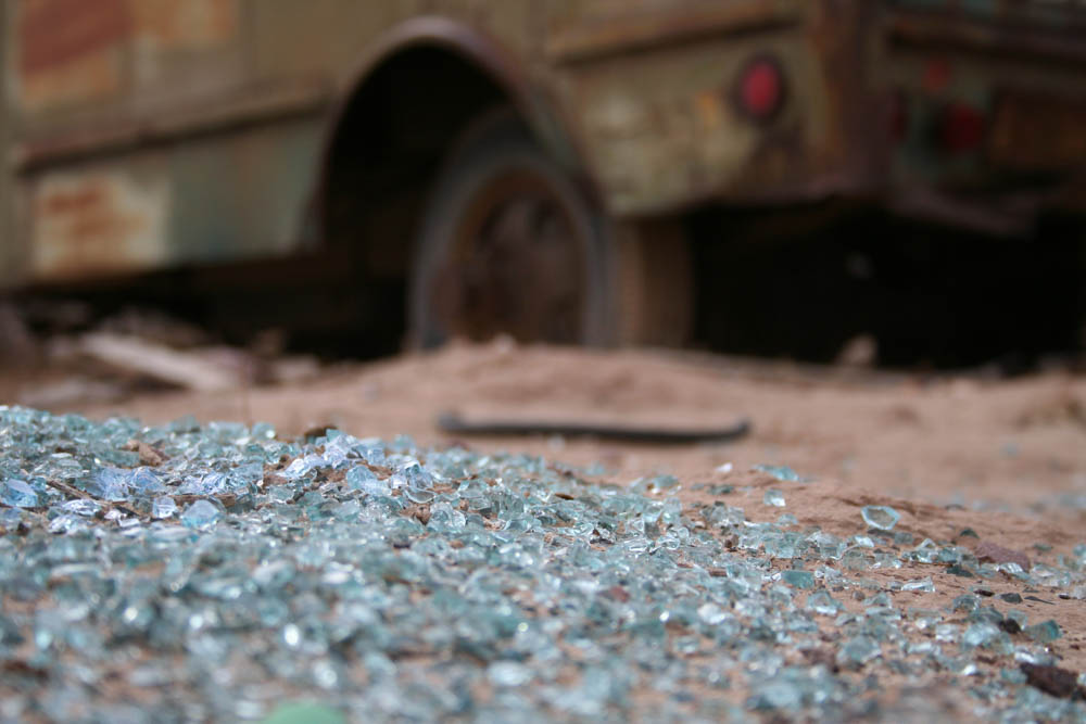 Photo: Abandoned truck in a wasteland, San Antontio, New Mexico, 4 of 4