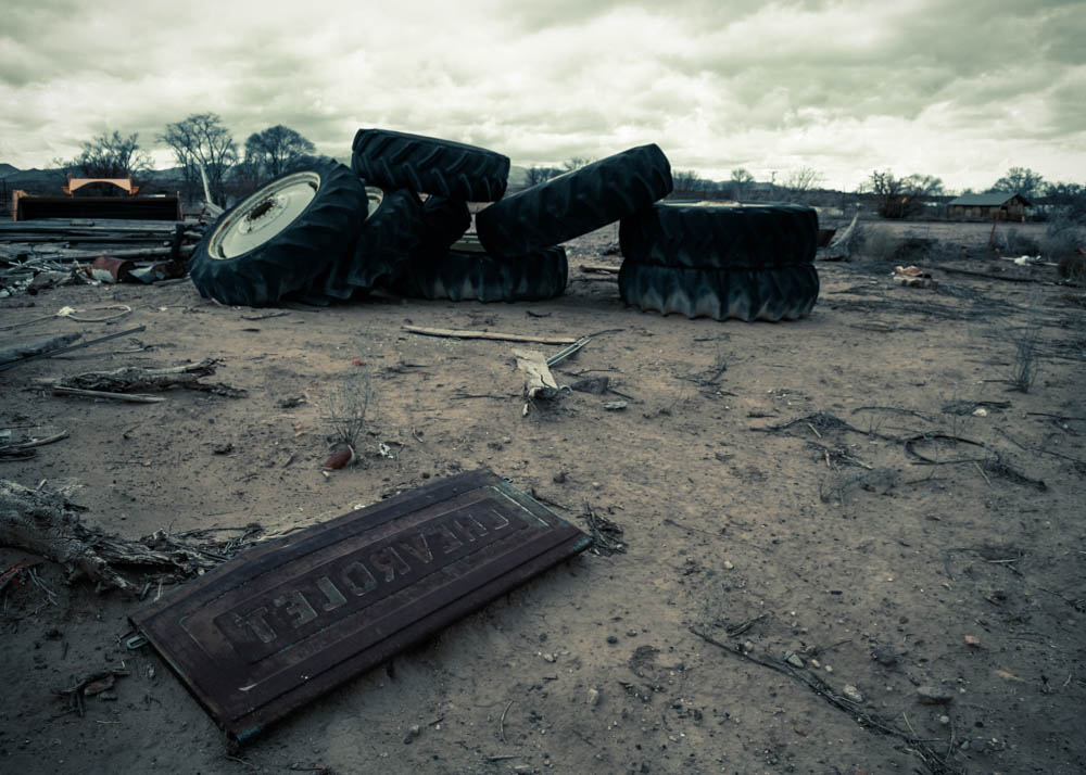 Photo: Chevrolet sign in a wasteland, San Antontio, New Mexico